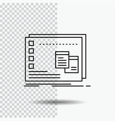 Window mac operational os program line icon on vector
