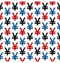 Yen symbol seamless pattern vector