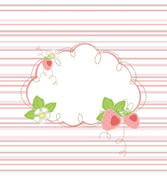 Baby shower with strawberry vector image vector image