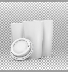 coffee cup mockup set vector image