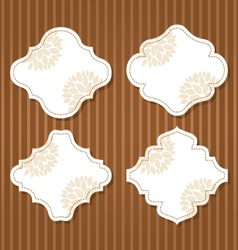 cute vintage frame vector image vector image