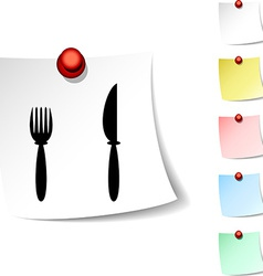 Dinner icon vector image vector image