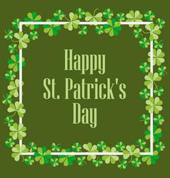 happy st patricks festive background vector image vector image