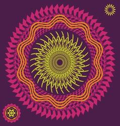 spring meditation flower vector image