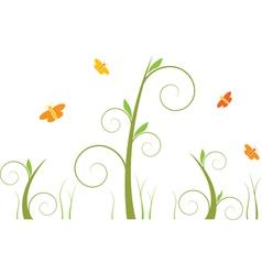 swirls and butterflies vector image vector image
