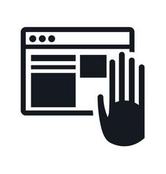 website internet hand touch digital vector image