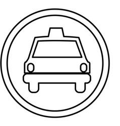 Figure symbol taxi front car icon vector