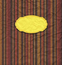 Old paper background with label vector image