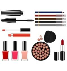 set of female cosmetics vector image