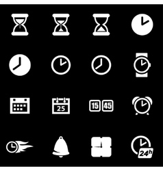 white time icon set vector image