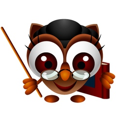 cute owl presenting vector image vector image