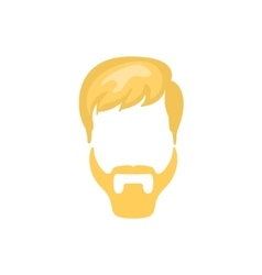 Hipster male hair and facial style with ducktail vector