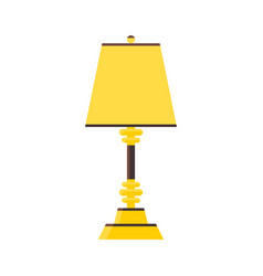 lamp style flat yellow or gold color vector image