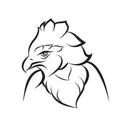 Line art of crown eagle vector image vector image