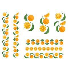 orange fruit colored ornament vector image vector image