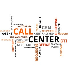word cloud call center vector image