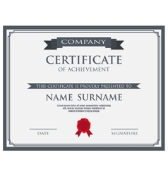 Certificate with wax seal template vector image