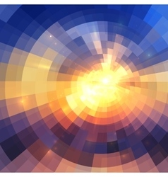 Colorful concentric shining mosaic abstract vector image