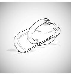 Drawing caps baseball cap lying on the floor vector image