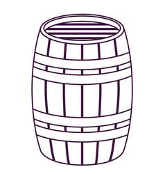 isolated beer barrel design vector image vector image