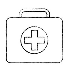 medical kit first aid emergency case vector image