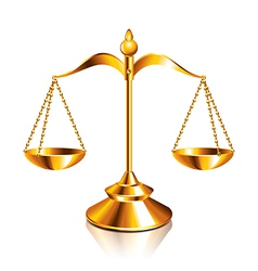 object scale justice vector image