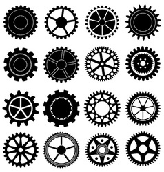 settings gear icons set vector image vector image
