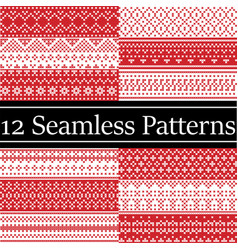 12 scandinavian style patterns inspired by vector image