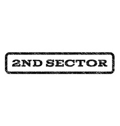 2nd sector watermark stamp vector