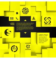 3d business template vector