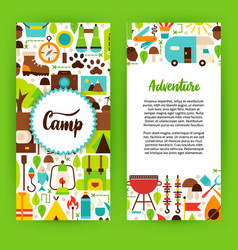 adventure camp flyer template vector image