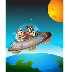 Animals and space vector image
