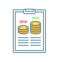 Annual report color icon vector