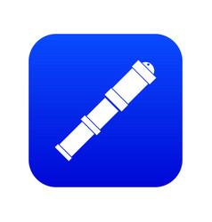 Antique telescope icon digital blue vector