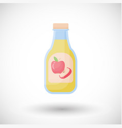 Apple cider vinegar flat icon vector