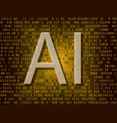 artificial intelligence over binary background vector image