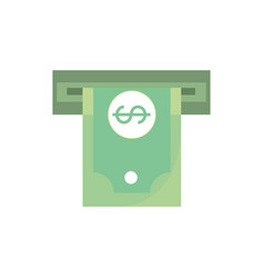Atm money banknote cash business commerce shopping vector