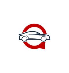 Automotive chat logo icon design vector