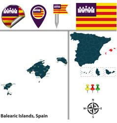 balearic islands spain vector image