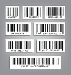bar code set upc bar codes universal product code vector image