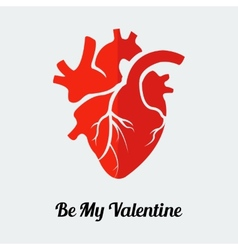 be my valentine human heart vector image