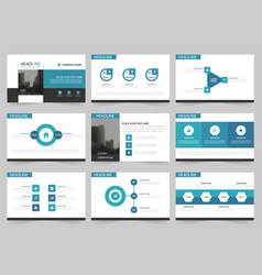 blue abstract presentation templates infographic vector image