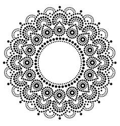 Bohemian mandala dot painting design abori vector