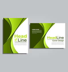 Book album brochure flyer cover design template vector
