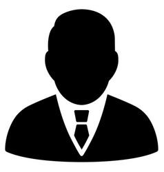 Boss flat icon vector