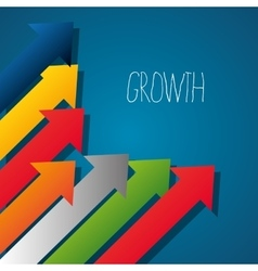 Business profits growth vector