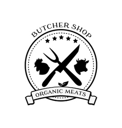 Butcher Shop Design Elements Labels Badges Logo vector