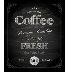 Cafe poster on chalk board vector
