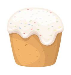 cake with white fondant easter single icon in vector image