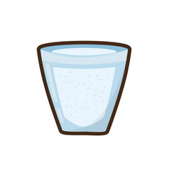 Cartoon glass cup water fresh vector